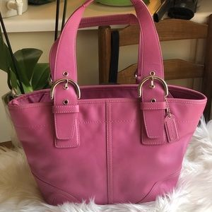 Coach SoHo Pink Leather Satchel 9544